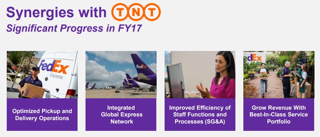 FedExとTNTの統合シナジー