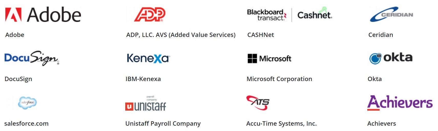 Workday SOFTWARE PARTNERS