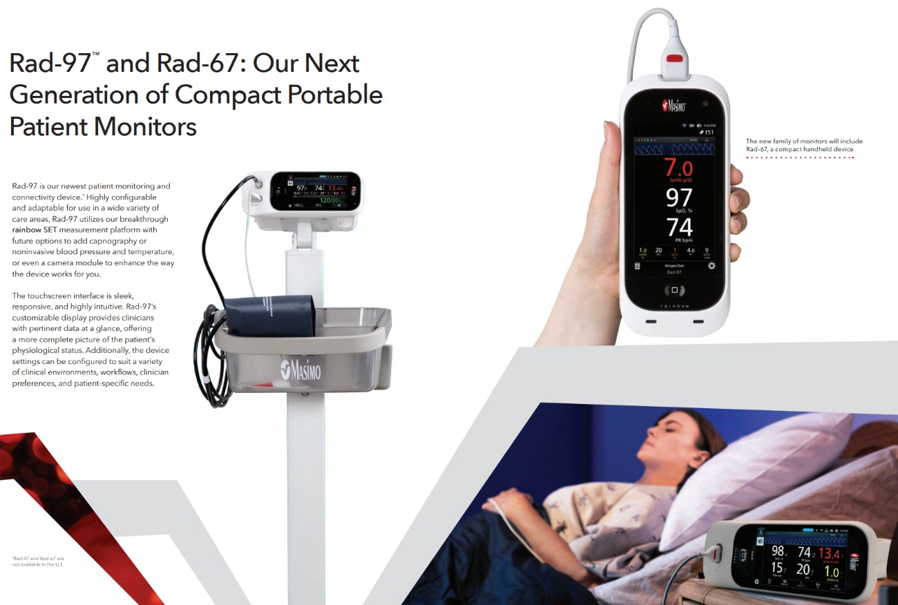 Rad-97  and Rad-67: Next Generation of Compact Portable Patient Monitors